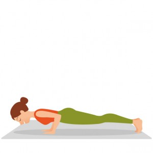 woman doing yoga plank straight armsexercises morning. Morning evening sport concept, place for text, sport, workout, gym, fitness health. Posture position in silhouette on studio white background. Young indonesian woman meditating, doing yoga pose and asana. Fitness girl enjoying yoga indoors in sport clothes, working out in gym class. Health and healing. Flat icon eps10 illustration vector art